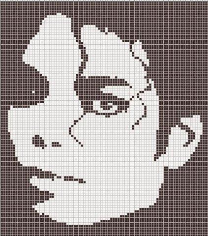 Майкл джексон вышивка крестом