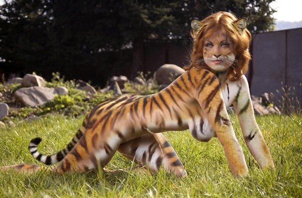 Тигрица сексуальная