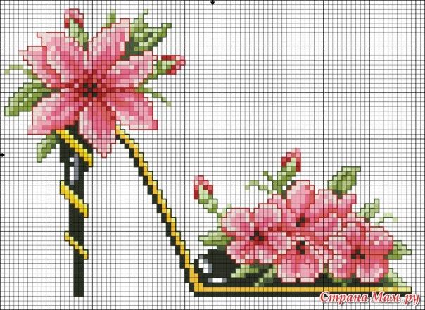 Вишивка...... схеми квітів c4a6192545284