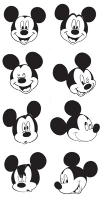 картинки чёрно белые из мультиков