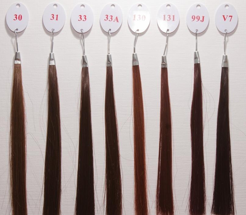 палитра волос на заколках