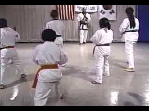 Episode 26 Tang Soo Do Class with Young Beginner Students - Forms, Kicks, Combination Techniques
