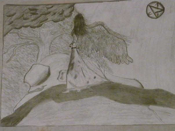 Дима нарисовал... За мецяц... а потом пролил на него какую-то хуиту, и снова нарисовал, ток уже за два есяца, и вот результат.