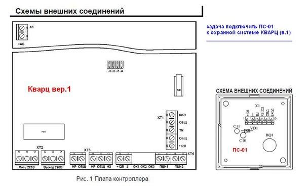 сигнализацию КВАРЦ (в.1) и