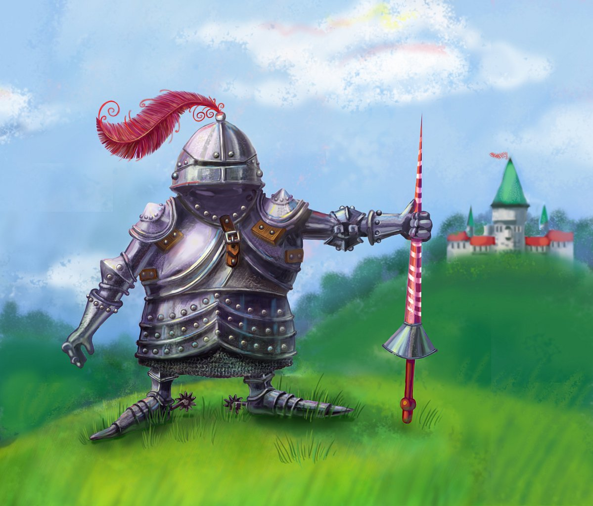 рыцарь, дизайн персонажа, силуэт