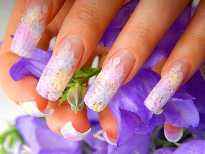 аквариумный дизайн ногтей акрилом: