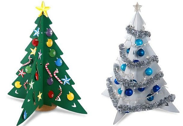 Из чего сделать новогоднюю елку своими руками фото