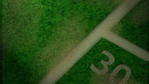 С нуля: Трава; Земля; Разметка; Цифры; Обработка;