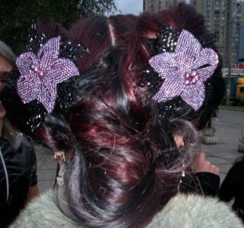 заколки для волос из бисера - Мир Бисера.