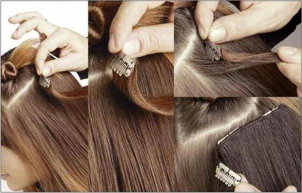 Как надевать накладные волосы видео