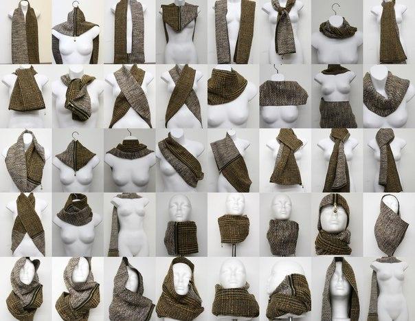 Варианты завязывания шарфа!