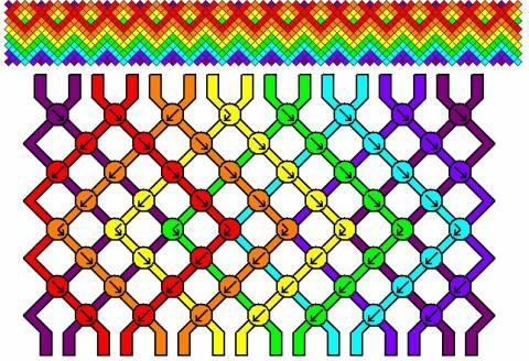макраме Бисер, схемы плетения.