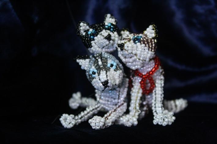 схема плетения собаки из бисера.