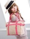 Льняная сумка среднего размера для ярких и модных натур.