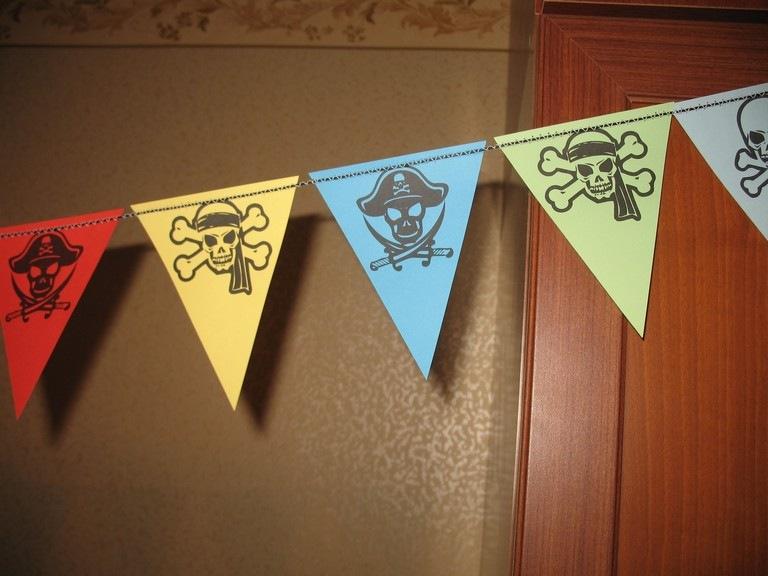 Флажки для пиратской вечеринки