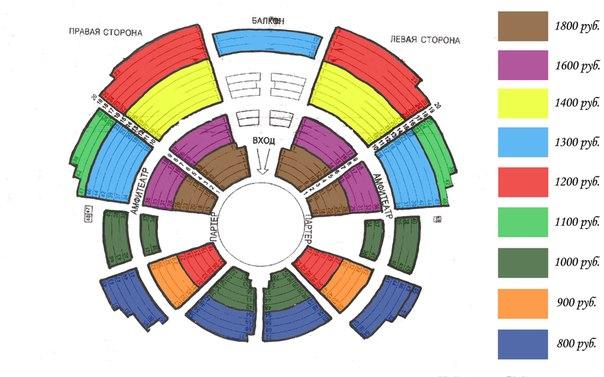схема зала дк зеленограда