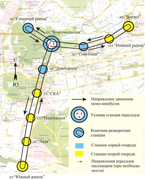 Схема скоростного трамвая