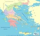 Подробная карта Греции на русском языке - карта древней Греции, карта острова Халкидики с отелями.