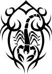 """Схема вышивки  """"Скорпион """": таблица цветов."""