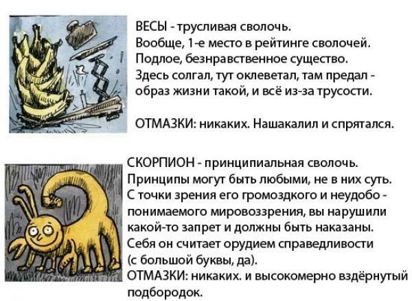 Знаки зодиака в картинках. Гороскоп в картинках. X_031649bb