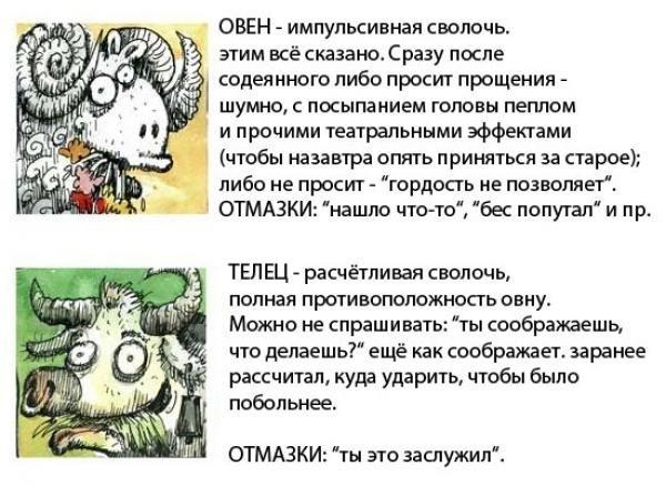 Знаки зодиака в картинках. Гороскоп в картинках. X_65220b67