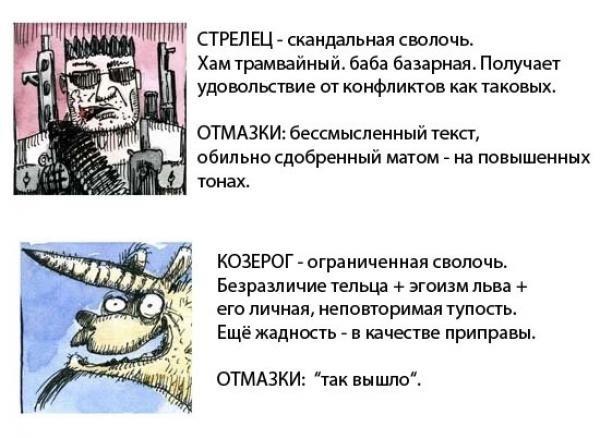 Знаки зодиака в картинках. Гороскоп в картинках. X_9050b196
