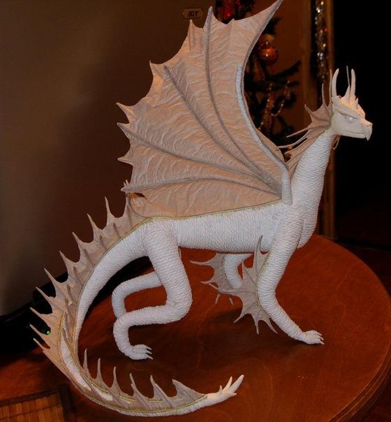 Сделать дракона из бумаги своими руками