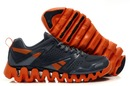The Reebok ZigTech Black Orange Red shoes feature simple colorway.
