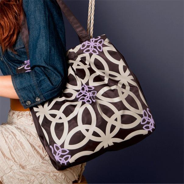 """Сумка  """"Идиллия """"Вместительная сумка со стильным контрастным рисунком."""