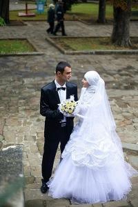 Фото мусульманок свадебным платьем