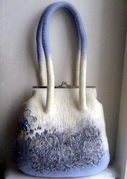 Мастер класс сумок по мокрому валянию