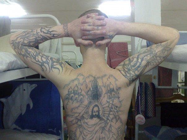 Тюремные наколки и их значения, фотографии наколок