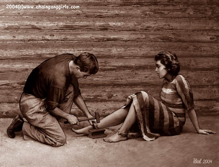 Фото рабыни в кандалах