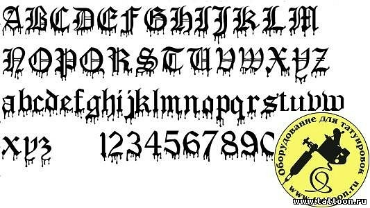 Тату готический шрифт с переводом
