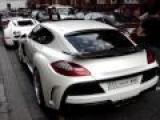 White Chrome Bugatti Veyron and Porsche Panamera