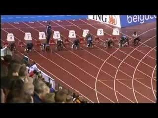 Usain Bolt Asafa Powell 100m Golden League Brussels 2008