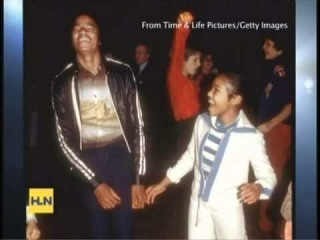 Michael Jackson's sister Janet being interviewed on HLN TV Feb. 20th 2011
