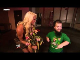 WWE NXT_ Hornswoggle gives Maryse a bouquet HD 720p
