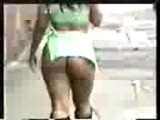DAMN! CHICK WIT A PHAT ASS WALKING DOWN THE STREET DAMN NEAR NAKED!