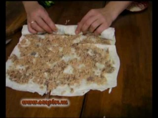 Кулинария. Закуска из лаваша и рыбы. Рецепт
