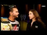 CM Punk, John Laurinaitis, and Stephanie McMahon Segment Summer Slam 2011
