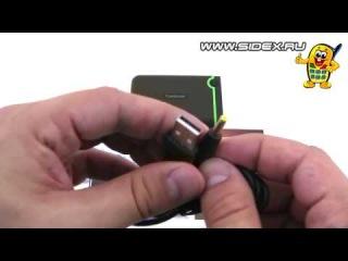Sidex.ru: Видеообзор USB 3.0 внешнего HDD Transcend StoreJet 25M3 500 Gb (rus)
