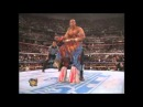 Wrestlemania 12 - Ultimate Warrior stands up after pedigree