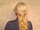 Easy romantic soft ponytail hairstyles for long hair tutorial Homecoming updo autumn 2011