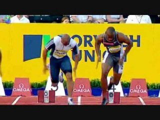 Asafa Powell and Maurice Green Slow Motion Start