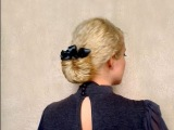Easy hairstyles for long hair Waves with braids overnight Vintage retro romantic updo without heat