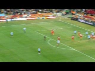 Forlan Free Kick Goal! - Ghana v. Uruguay - World Cup 2010