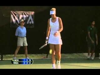 Sabine Lisicki vs Sania Mirza 6:3, 6:0 Match point - WTA Dallas 2011