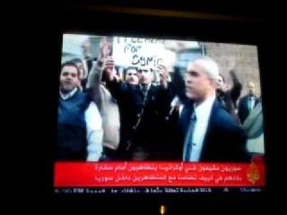 مظاهرة سورية في كييف ٢٢.٠٤.٢٠١١ aljazeera