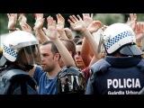 в Барселоне 27 мая, когда полиция избила участников мирного собрания